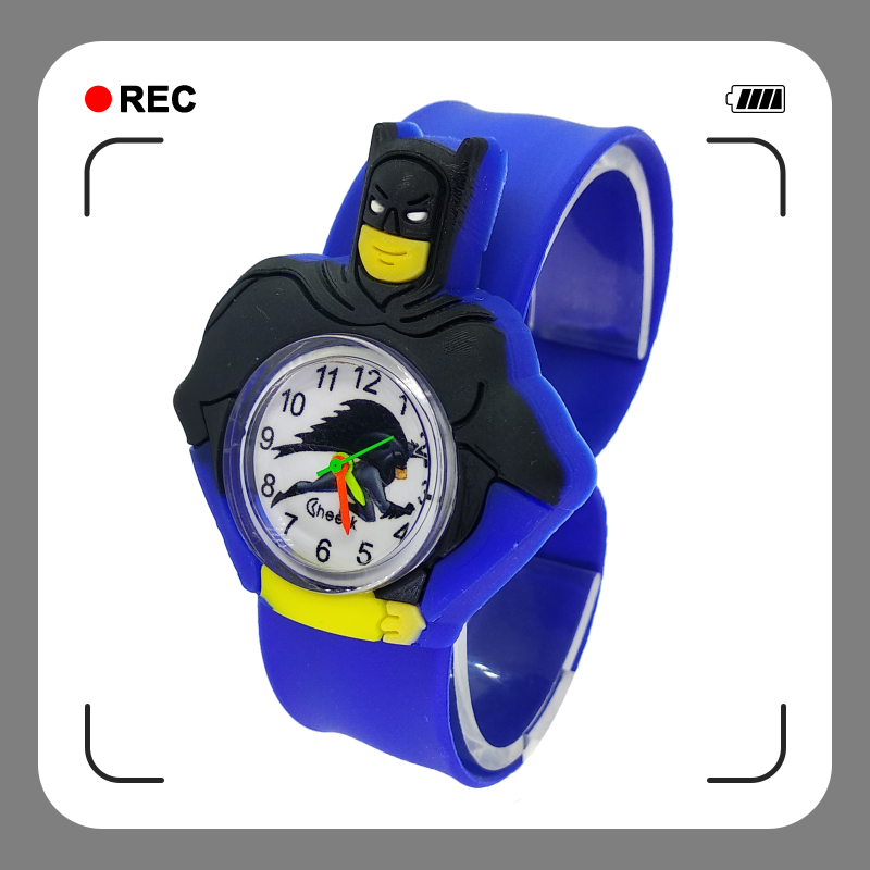 Fashion Kids Slap Watches Children Batman Watch Silicone Wristwatch For Kid Boy Girl Gift Clock Relogio Feminino Bayan Kol Saati