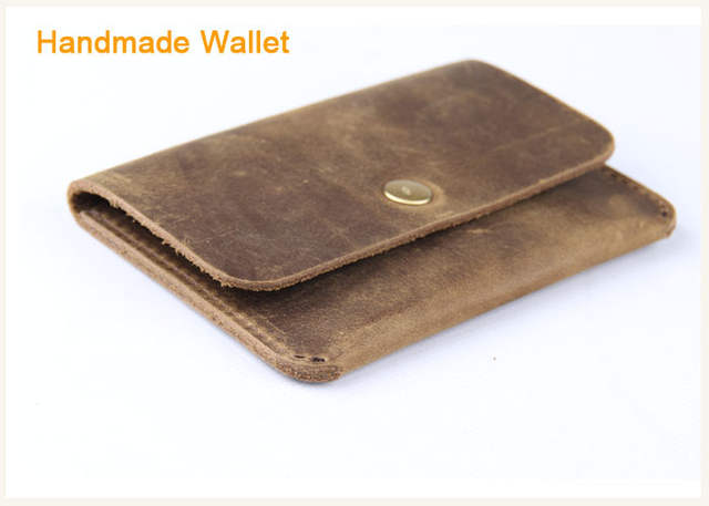 italien retro pferdeleder herren brieftasche leder geldbörse
