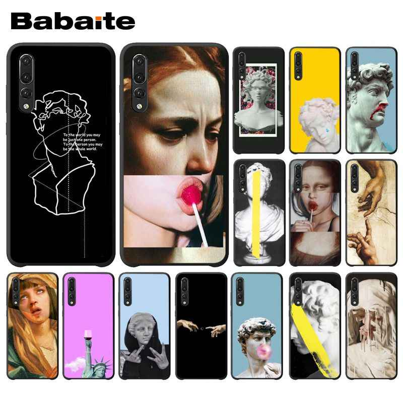 Babaite Abstract Art Lines David Mona Lisa Phone Case for Huawei P20 Mate20 Lite Honor Play 8A 8C 7C 5A Y6 Y5 II Psmart 2019