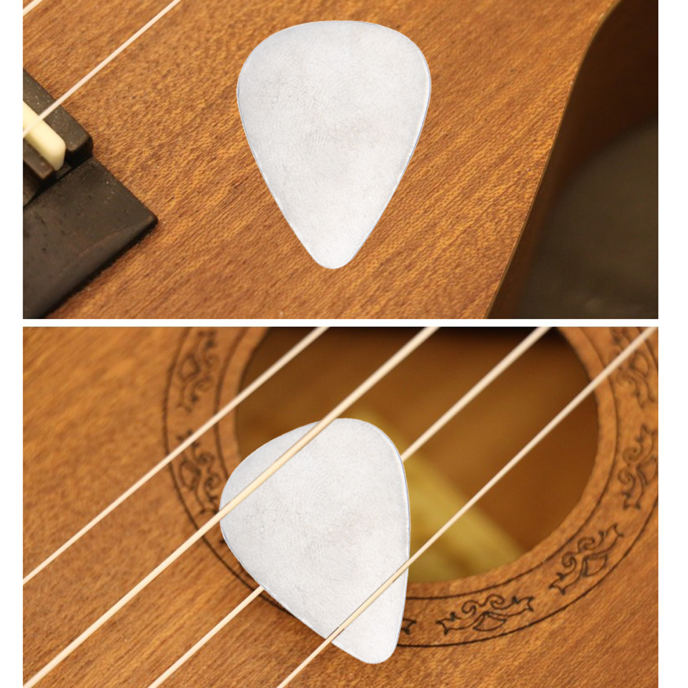 10pcs 0.3mm Stainless Steel Metal Guitar Picks Electric Guitar Bass Picks Plectrums