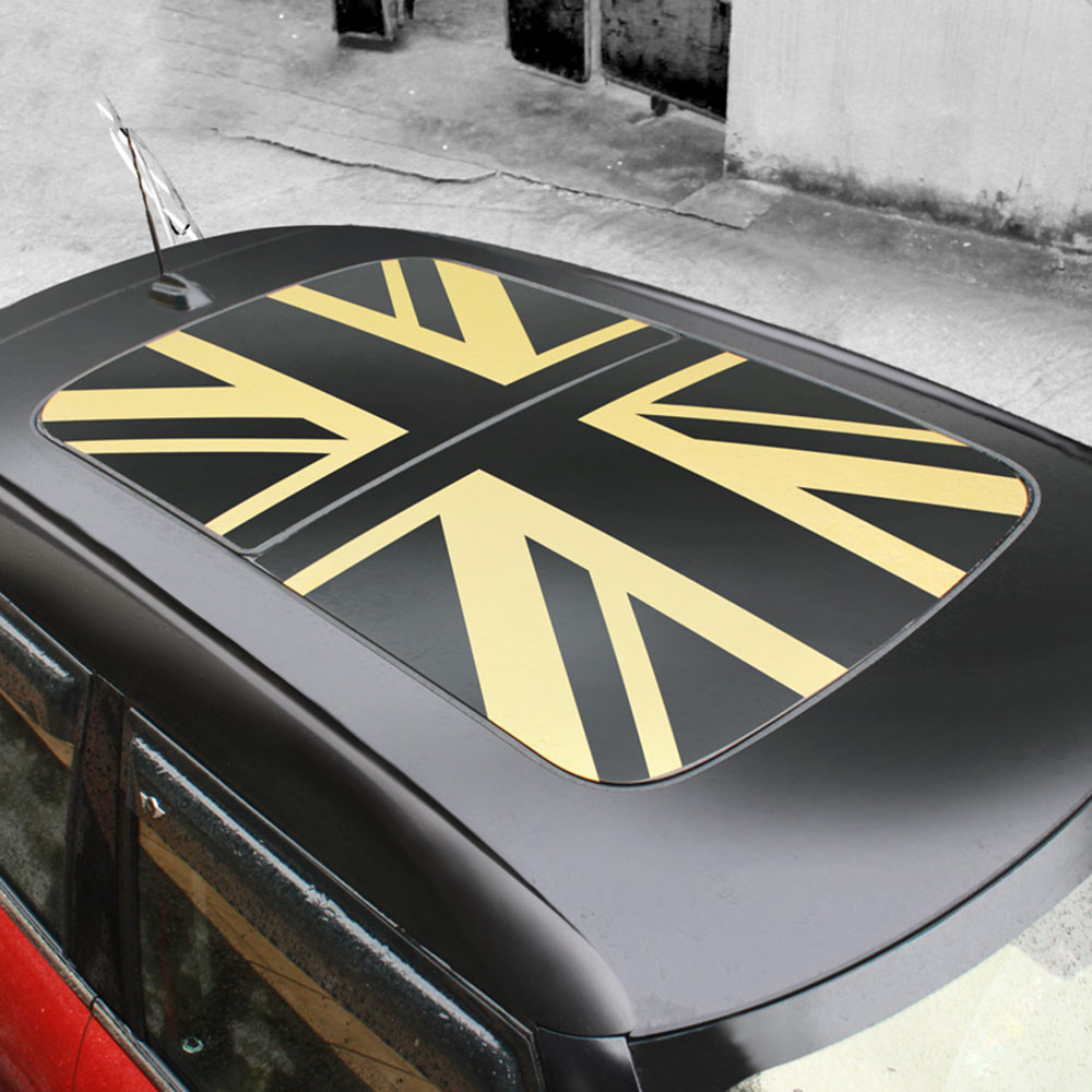 Car Union Jack PVC Car Sticker Sunroof Window Sunshade Stickers Decoration For Mini Cooper R55 R56