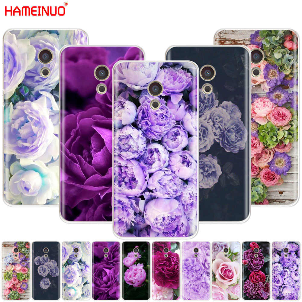 HAMEINUO fioletowy lato piwonie kwiaty piwonia etui na telefon do Meizu M6 M5 M5S M2 M3 M3S MX4 MX5 MX6 PRO 6 5 U10 U20 note plus