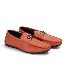 fashion men casual shoes 2019 leather men loafers Slip-On pu moccasins