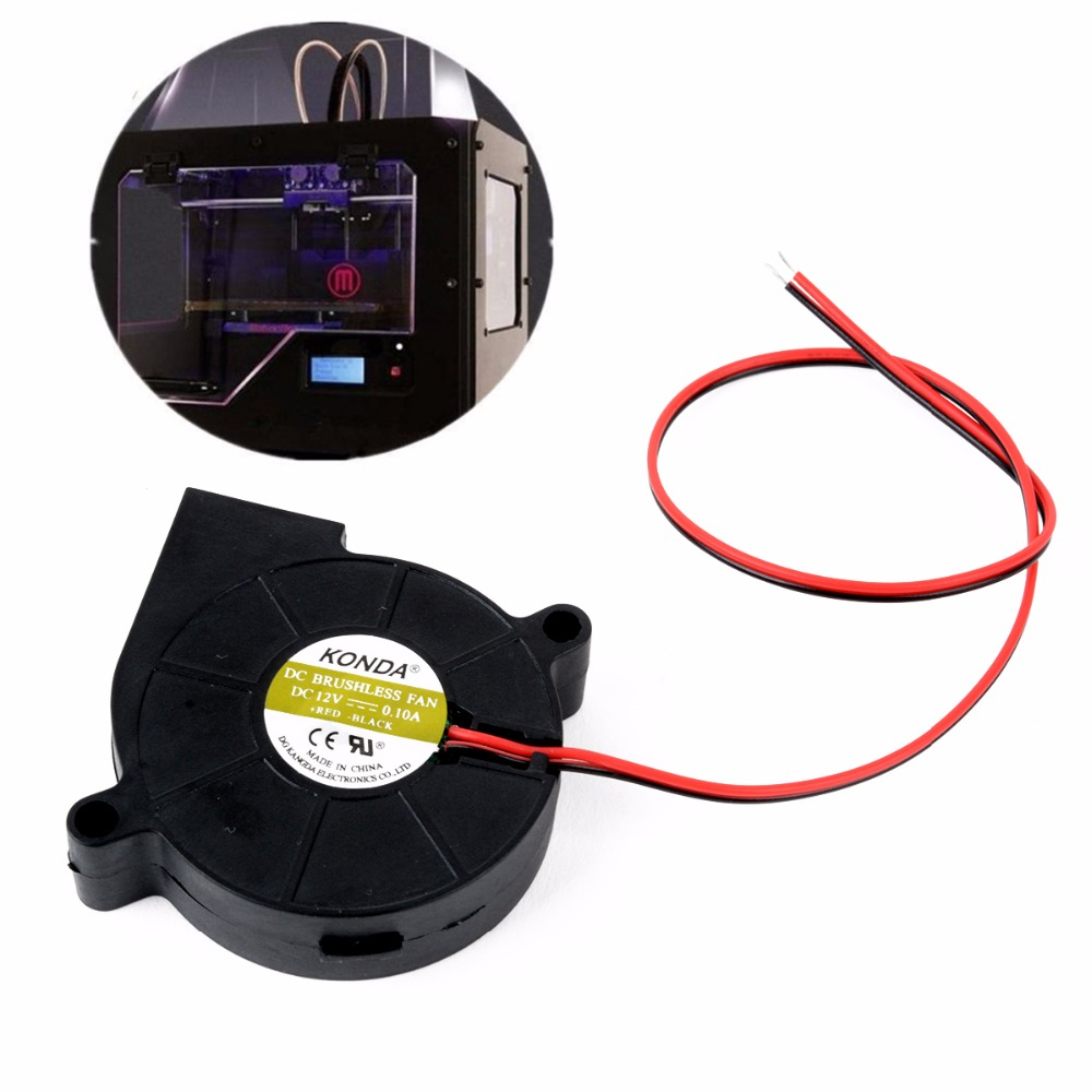 New 12V DC Cooling Blower Fan 50mm Blow Radial Cooling Fan - Hotend / Extruder RepRap For 3D Printer 5pcs 5015 cooling turbo fan 12v brushless parts 2pin for makerbot reprap prusa cooler blower 50x50x15 3d printer part plastic dc