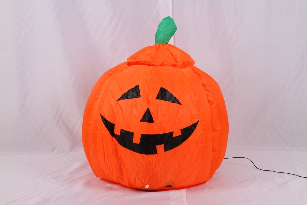 1m EU Plug Inflatable Halloween Pumpkin with Going Up and Down Cute Elfin for Halloween Festival Decoration plastic standing human skeleton life size for horror hunted house halloween decoration