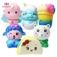 Jumbo Slow Rising Squishies Scented Cake   practical Toys Stress Reliever Charm Toys Fun Galaxy Poep Scented Squishy Charm