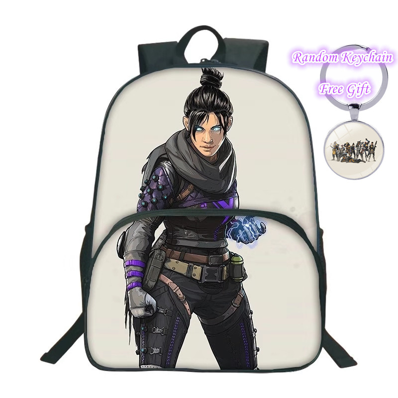 ZSQH 2019 game Apex Legends School Bags New Fashion Backpack Bangalore Wraith Lifeline bags Anime Backpacks for kids&adult
