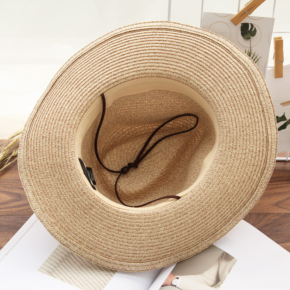 7a2ef27538bd1 SIGGI Unisex men western style cowboy straw hat women round up shapeable  wide brim OSFM chin cord 89058-in Cowboy Hats from Apparel Accessories on  ...