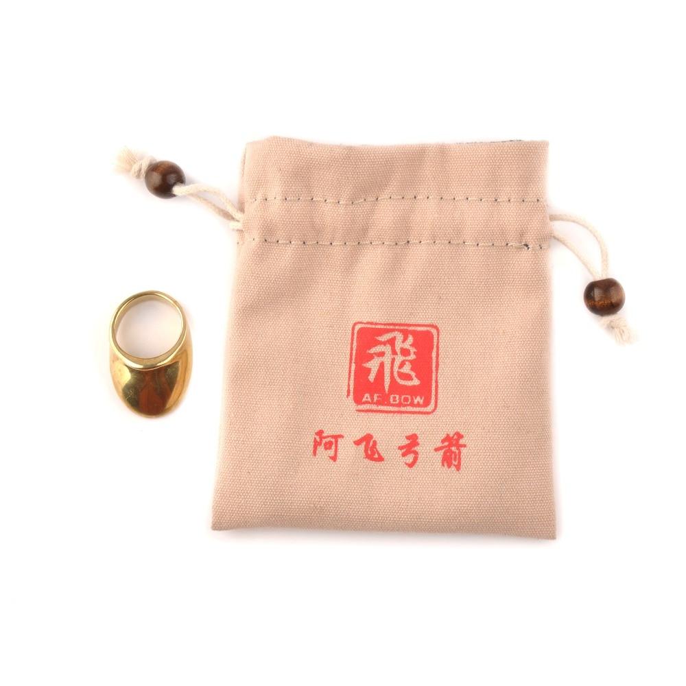 Anel de polegar de cobre puro proteção