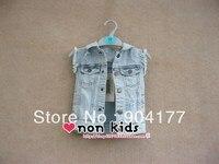 Бесплатная доставка Детская осенняя одежда 2016 года жилет для мальчиков джинсовый жилет пальто Лидер продаж Новое поступление