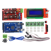 3D Printer Kit Mega 2560 R3 1Pcs RAMPS 1 4 Controller 5Pcs A4988 Stepper Driver Module