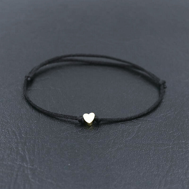 BPPCCR Minimalism Lucky Love Heart Shape Charm Bracelet Thin Red Rope Thread String Braid Bracelets For Men Women Couples Gifts