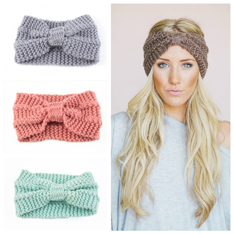 Women Winter Hats Wool Solid Ear Protect Cap Fashion Winter Knitted Hat Female   Skullies     Beanies   Hair Accessories ponytail   beanie