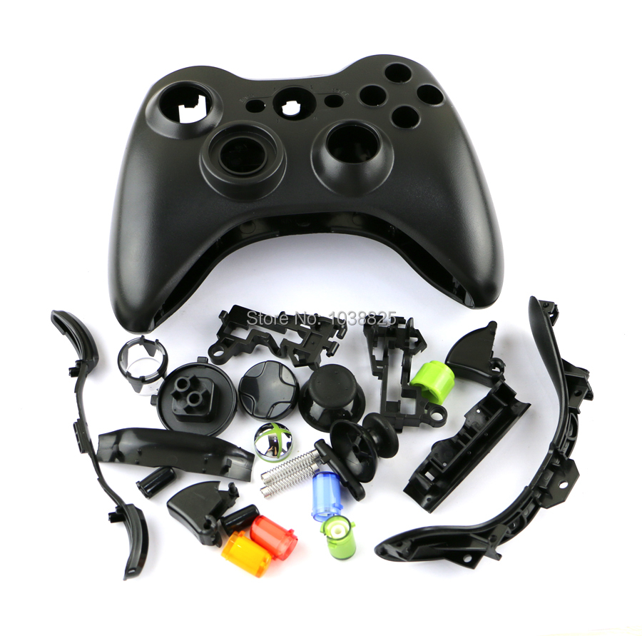 Full Set Shell Housing Cover Case With Buttons Kit For Xbox 360 Wire Controller Replacement