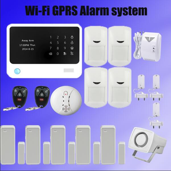 WIFI GSM Wireless Burglar Alarm wireless Smoke/Gas Detector Wire mini Siren For House Security +water leakage sensor alarm wireless alarm accessories glass vibration door pir siren smoke gas water sensor for home security wifi gsm sms alarm system
