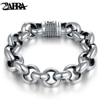 Hot Sale Skills Old Silversmith 925 Silver Bracelet With Simple Fashion Silver Ornament Men S Thick