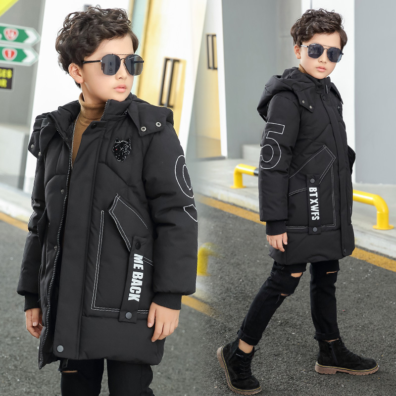 2018 Winter Children Clothing Boy Cotton-padded Coats Teenage Boy Warm Cotton Jacket Boy 4-14T Casual Cotton Parkas with Hooded womens winter jackets and coats 2016 warm hooded inner cotton padded parkas for women s winter jacket xxxl female manteau femme page 4
