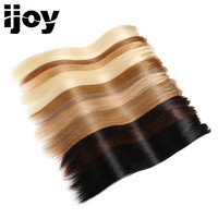 Micro Bead Remy Human Hair Blonde European Straight Natural Hair Loop Micro Ring Real Hair Extensions Bundles 15Pure Color IJOY