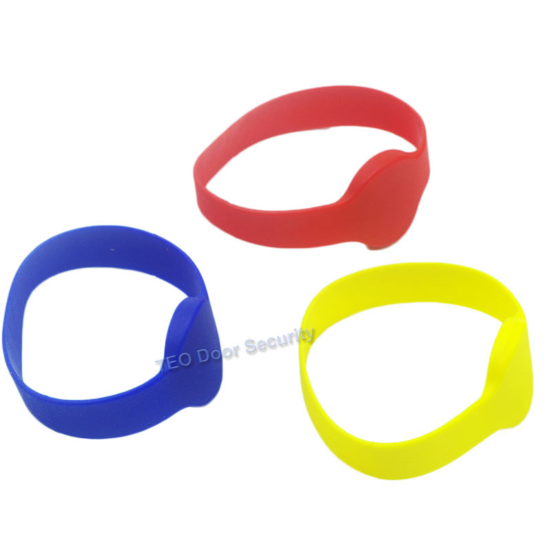 Watch Card Wristband 125khz Keytag EM4100 ID Silicone Proximity Smart Bracelet Round Head Contactless Rugged Silicon 70mm