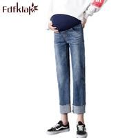 High Waist Maternity Pant For Pregnant Women Pregnancy Clothes Plus Size M XXL Spring Autumn Fashion Pregnant Jeans Fdfklak