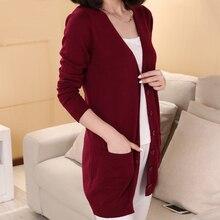 2019 yeni moda uzun hırka kaşmir yün Blend kazak bayan v yaka uzun kollu kazak ücretsiz kargo