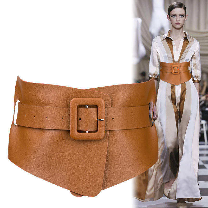 Hot Designer Punk Gothic Faux Belts For Woman Belt Classy Elastic Ceinture Femme 2 Color Belt Ladies Apparel Accessory