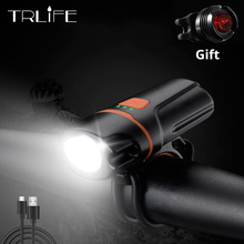 Bike Light Built-in 8000 Lumens MTB Waterproof USB Rechargeable Lights with Taillight for Road Cycling Safety Flashlight