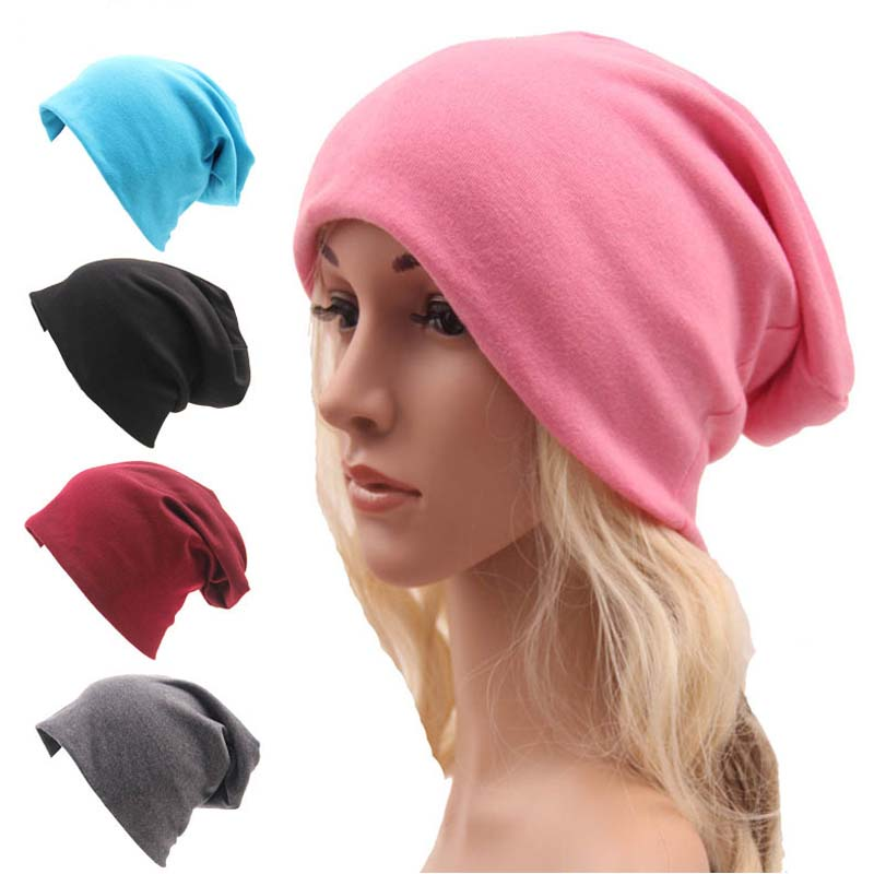 Skully Beanies Hat Ladies Autumn and Winter Unisex Hat Women Hooded Casual Cap Turban Thin Hip-hop Cap Solid Color Gorros Hombre ladies autumn winter felt hat vintage bowler cloche hat