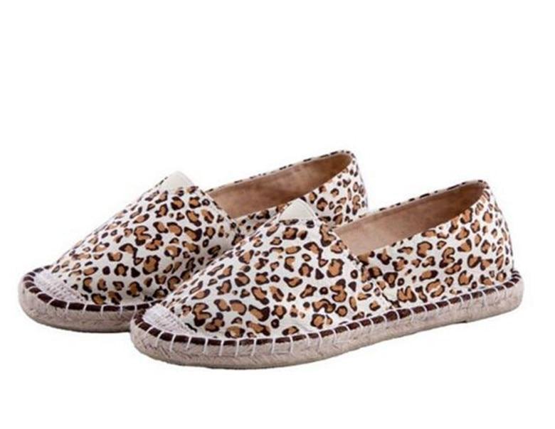 Mujeres de la manera Mocasines Slip On Pisos Leopardo Causales Zapatos de  Conducción de Verano Mujer