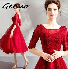 Genuo New 2019 Women Sexy Off Shoulder Halter Hollow Out Summer Party Dresses Gold Color Elegant Evening Maxi Dress Vestdios 8128