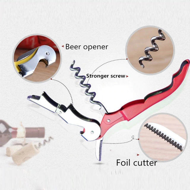 Stainless Steel Cork Screw & Bottle Opener 10