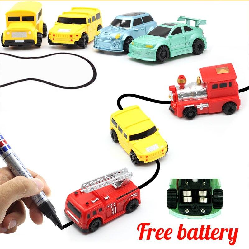 1pcs 매직 펜 유도 트럭 미니 퍼즐 어떤 그린 된 라인 - 장난감 차량