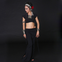 Tribal Fusion Belly Dance Costume 2pcs Set Top And Pants Plus Size Tribal Costume For Belly