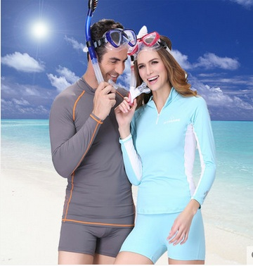 Anti-UV Wetsuit for Diving Suit Surfing Women/Men Snorkeling Tight Swimming Sun Protective-water Sports Wear Swimming RashGuards