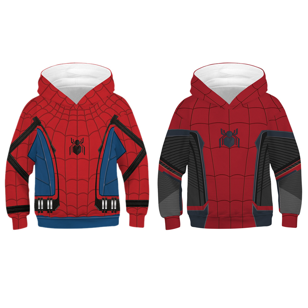 Fashion 3D Printed Spiderman Long Sleeve Hoodie Casual Tops Children's Pullover Hoodies  Hip Hop Warm Hooded(China)