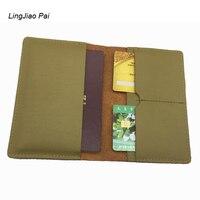 LingJiao Pai sveglio poco costoso delle donne di lusso di caso del passaporto del supporto di protezione globale formato standard in vera pelle copertina del passaporto di viaggio