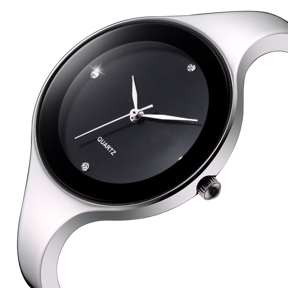 GEEKTHINK Luxury Brand Fashion Quartz Watch Kvinnor Rostfritt Stål - Damklockor - Foto 2