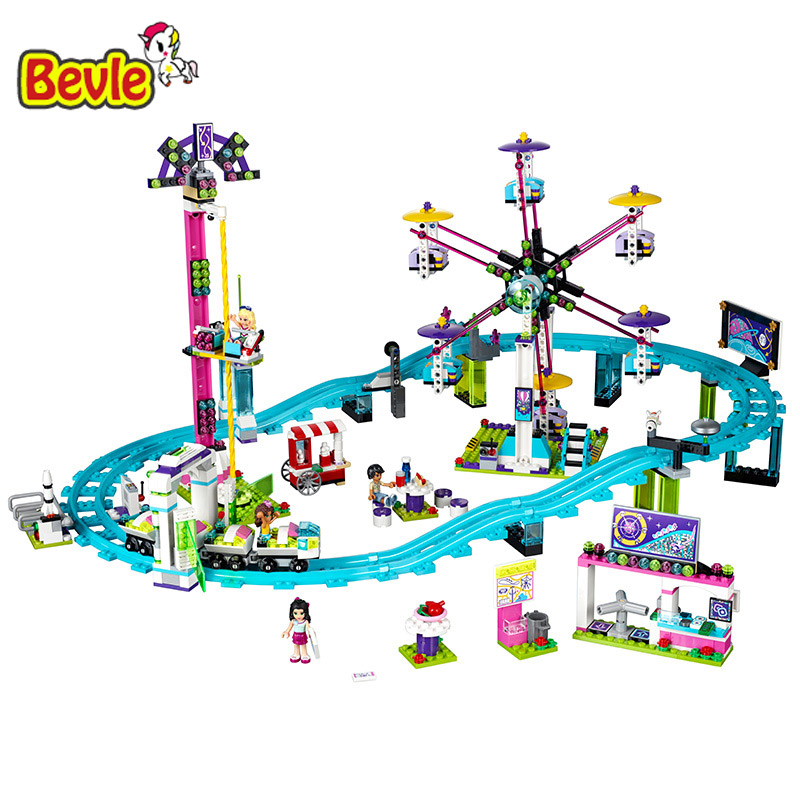 Lepin 01008 Girls Friends 1124Pcs Amusement Park Coaster Building Blocks Bricks Toys Gifts For Children 41130 2016 new lepin 01008 1124pcs amusement park coaster building kits girl friend blocks bricks toys compatible gift 4113