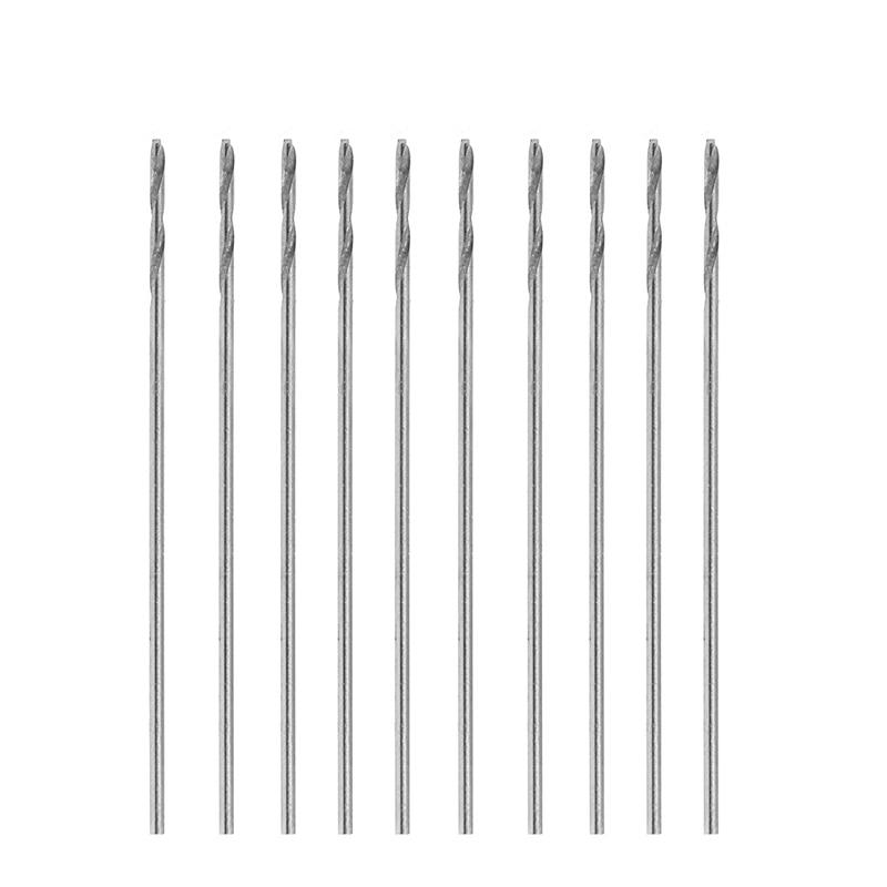 10Pcs/Set Multifunction Tiny Micro HSS 0.5mm Straight Shank Twist Drilling Bit 10pcs set multifunction tiny micro hss 2 5mm straight shank twist drilling bit