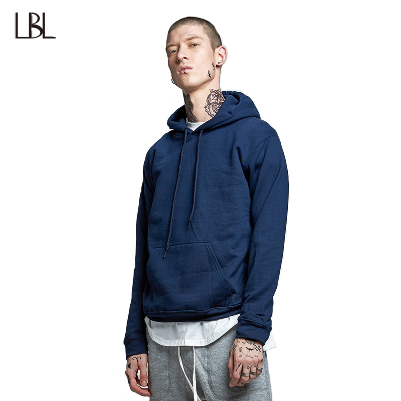 Europe Size Hooides Mens Thick Clothes Spring Casual Sweatshirts Men Hip Hop Streetwear Solid Fleece O-Neck Hoody Man Clothing