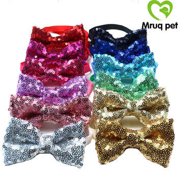 60PCS Pet Dog Cat Puppy Bow Ties Adjustable Shinning Sequins Bowknot Dog Bowties Dog Grooming Bows Dog Accessories Pet Supplies - DISCOUNT ITEM  10% OFF All Category