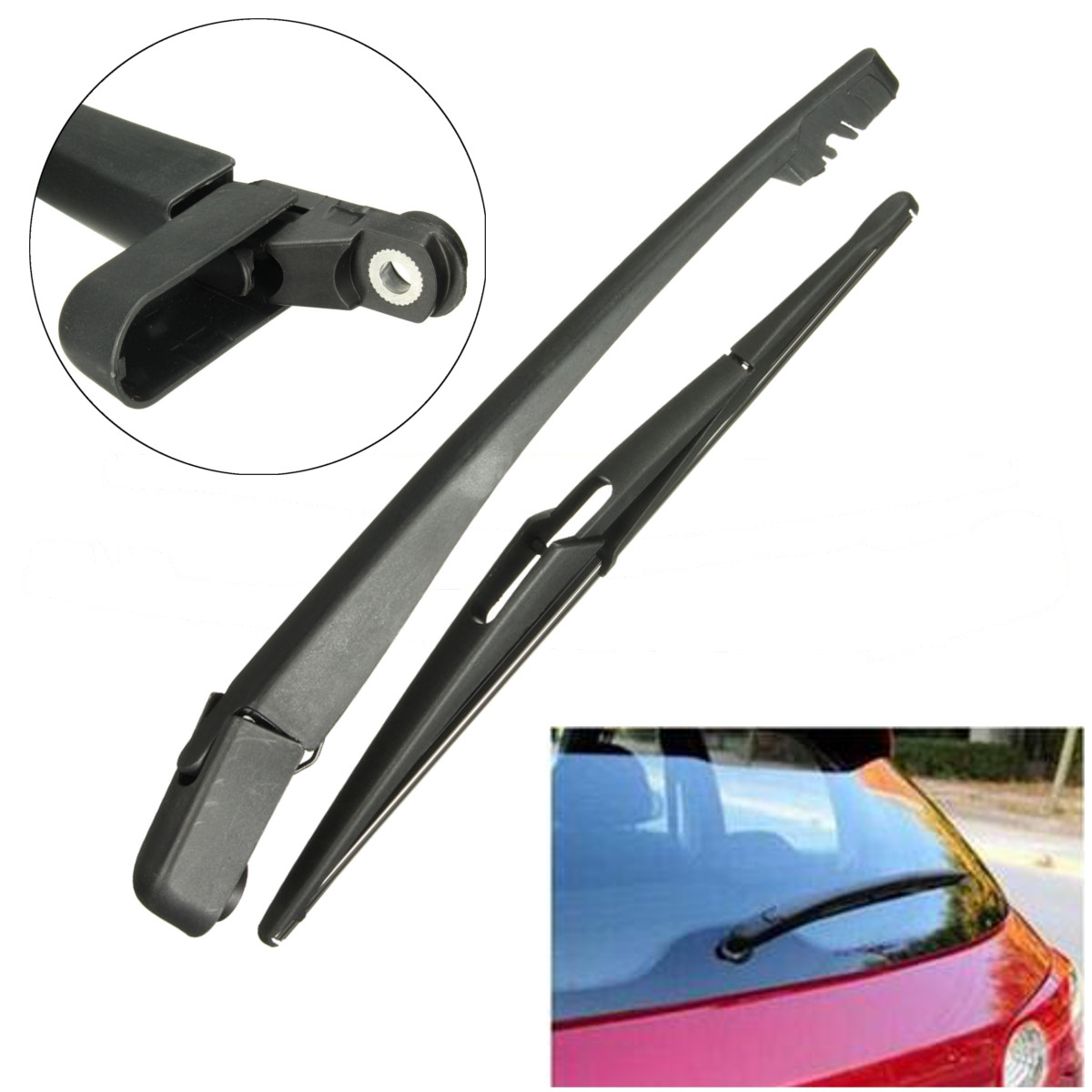 2Pcs/Set Rear Window Windshield Wiper Blade&Arm Set For VAUXHALL OPEL CORSA D MK4 2006 2007 2008 2009 2010 2011 2013 2013