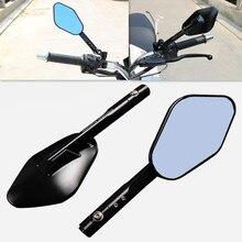 1 Pair CNC Aluminum Motorcycle Rear View Side Mirrors For Kawasaki Honda Ducati Suzuki Yamaha Kawasaki Triumph KTM Cafe Racer
