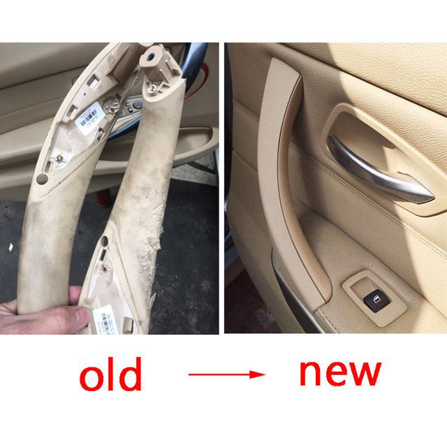Original Inner Door Handle Panel For BMW E90 E91 For BMW 3-Series Sedan Pull Trim Cover 51417230850 51419150335 51419150340
