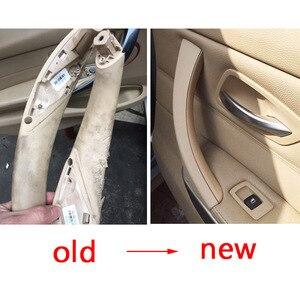 Image 3 - Poignée de porte intérieure de BMW, pour modèles série 3 2005, 2006, 2007, 2008, 2009, 2012, 328, E90, E91, 330, 335, gris, Beige, noir, gauche ou droite