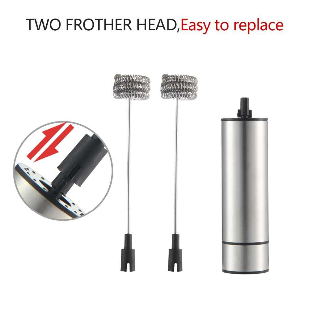 Handheld elétrico Whisk Frother Foamer Leite Duplo Primavera Primavera Triplo Cabeça Agitador Blender Mixer Agitador Café Ferramenta do Fabricante