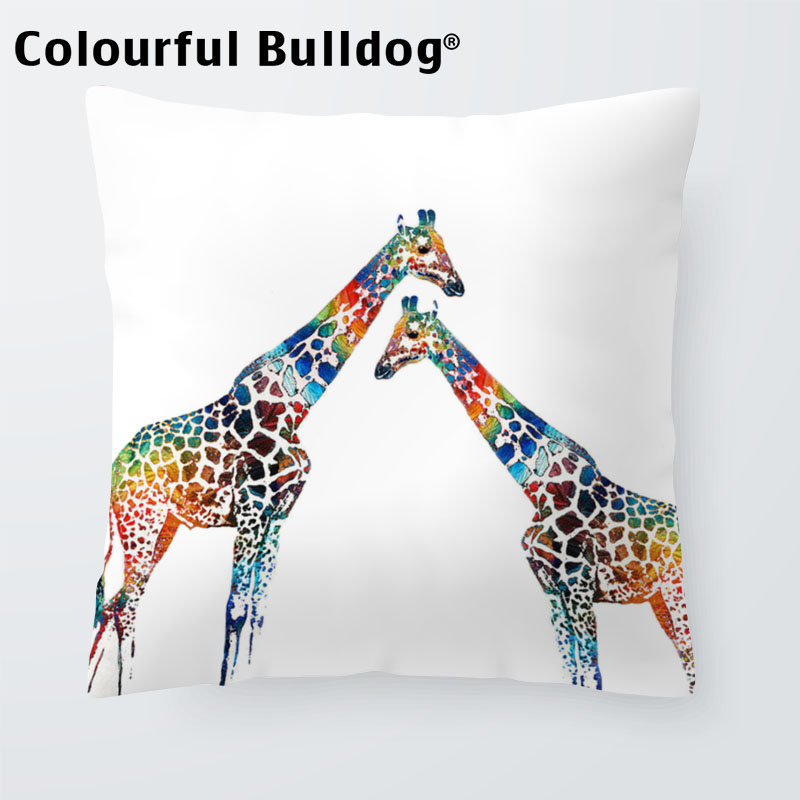 Table & Sofa Linens Cushion Cover Square Cotton Linen Colourfu Bull Terrier Painted Bull Dog Dachshund 3d Cushion Cover For Home Sofa Pillow Case Cojines 7a1012 Fancy Colours
