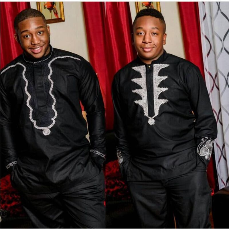 Ph3036 Ph3035 Dashiki African Men Clothes Bazin Riche African Dress For Men 2 Two Piece Suits Dashiki Shirt With Trouser