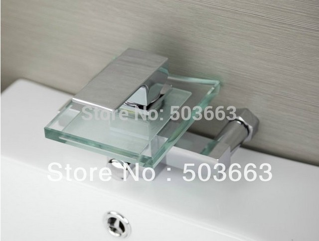 Miscelatore Vasca Da Bagno : Nuova doccia sets vetro cascata rubinetto vasca da bagno lavabo