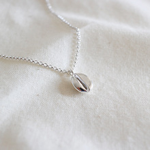 HFYK 2018 Personality 925 Sterling silver necklaces for women coffee beans short pendant necklace jewelry collier kolye collares
